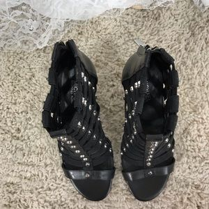 Michael Kors Shoes - Michael Kors leather and elastic heels size 6.5